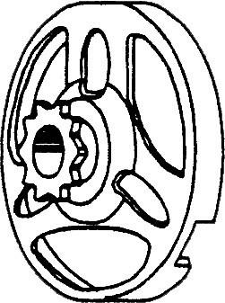 Kupplungsglocke mit Ritzel 11Z, 3 Nasen