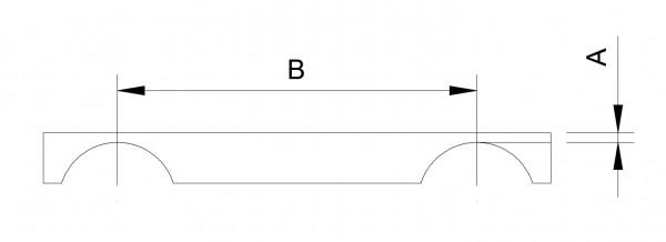 Motorbockschiene DD2, -8mm