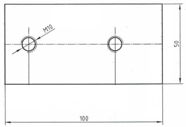 Schraubplatte 55mm