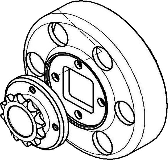 Kupplungsglocke mit Ritzel 11Z, X30
