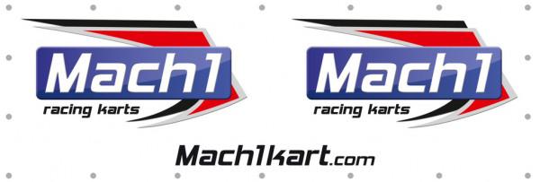 Werbebanner MACH1 3x1m mit Ösen