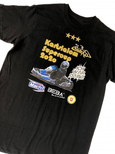 T-Shirt schwarz Kartslalom Supercup 2020