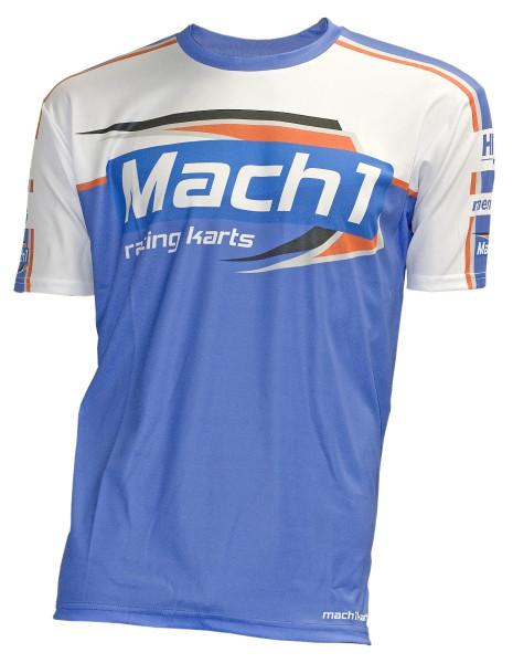 T-Shirt MACH1 blau