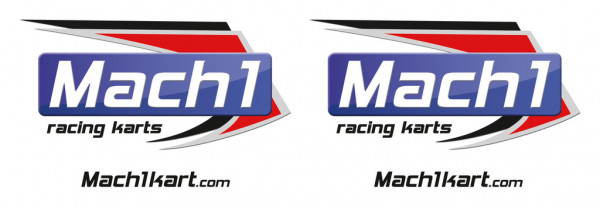 Aufkleber MACH1 3,5x10,5, transparent