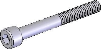 Schraube ISK M6x40 blank