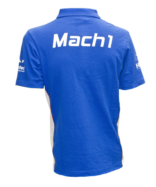 Polo-Shirt Mach1 blau