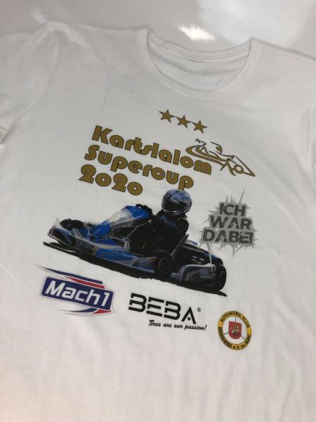 T-Shirt weiß Kartslalom Supercup 2020 Damen XS